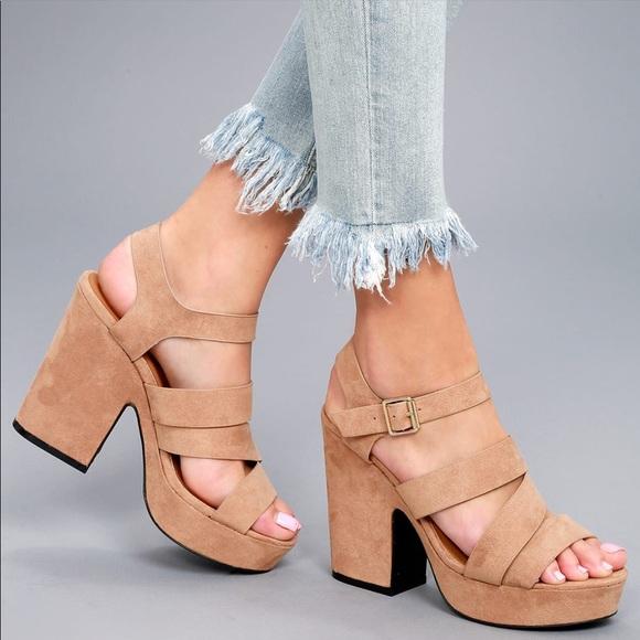 332674b28b7 Crisscross Platform Heel Sandal Boutique